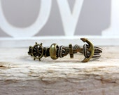 anchor bracelet...nautical bracelet...sailing jewelry...paracord bracelet..men's bracelet..sailrope bracelet..gift for men..