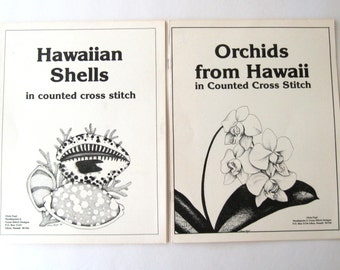 Orchids from Hawaii, Hawaiian Cross Stitch Chart Pattern Book, Chris Faye, 1985