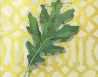"10x10"" Leaf Print - ""Oak Leaf"""