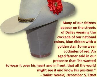 Red Star Texas Secession Cockade