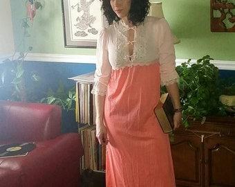 Vintage Silk Nightgown - Fancy Eco Friendly Unique - OOAK