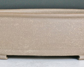 Unglazed Bonsai Pot  Rectangle with Rounded Corners