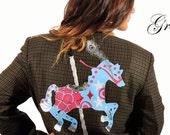 Punk tweed hacking jacket...