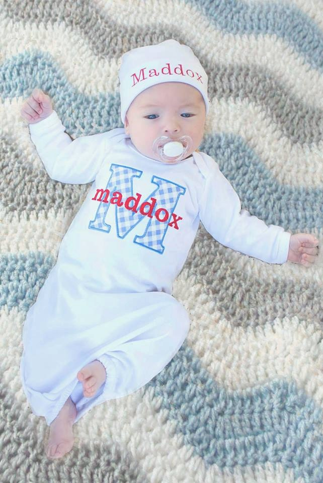 Newborn Baby Boy Clothes Personalized Baby Boy Take Home