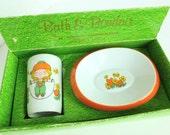 Holt Howard Bath and Boudoir Boxed Gift Set Ceramic Tumbler and Soap Dish Jump Rope Girl #4743