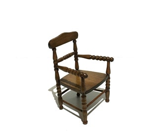 Antique Carved Wood Chair Salesman Sample Doll Furniture