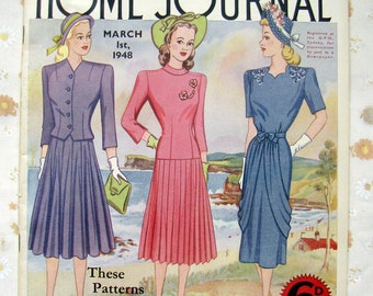 Vintage magazine - 1948 Australian Home Journal - women's sewing and knitting patterns