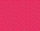 Lovebugs Red Text, Doodlebug Design, Cynthia Sandoval, Riley Blake Designs, 100% Cotton Fabric, C5054-RED