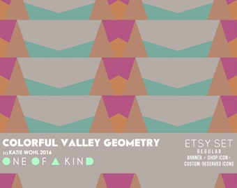 Colorful Valley Geometry  - etsy set