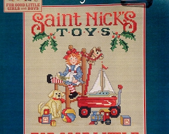 Sue Hillis Designs | ST. NICK'S TOYS | Counted Cross Stitch Pattern | Charm
