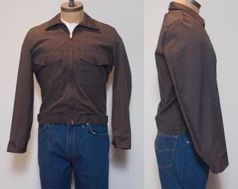 38 R | 1970's Red Kap Brown Work Jacket