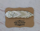 Pearl Faux Leather and Glitter Teardrop Arrow Headband - Newborn Baby to Adult