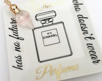 Perfume Tray Organizer, Perfume Holder, Glam Decor Porcelain