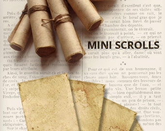 Mini Scrolls DIY printable paper crafting antique scrolls parchment digital download instant download digital collage sheet - VDMIVI1268
