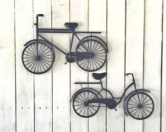 Bicycle Wall Art bicycle wall hanging | etsy