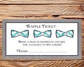 Bowties Diaper Raffle, Raffle Ticket, Bowtie, Navy, Gray, As is instant download - 1PDF 8.5x11, 1574