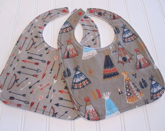 SWEET NATURALS/Organic Line/Baby Bib/Infant--18 mo./Set of Two Bibs/Wildland (Organic)/Organic Fleece Back