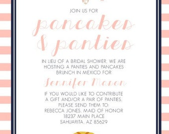 Pancakes and Panties Shower Invitation