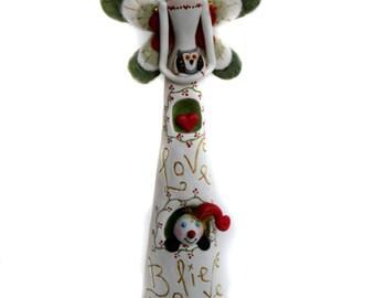 Christmas Fairy - Fairy Art Doll - Whimsical Fairy - Christmas Decor