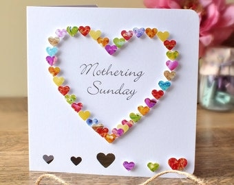 Handmade 3D Mother's Day Card, Personalised, Personalized, Mothering Sunday, Mothers Day, Love Heart, Mom, Mothering Sunday (BHE05c)