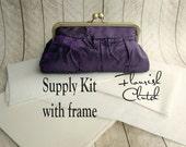 Flourish Clutch kit, interfacing WITH FRAME kit, frame clutch purse kit, DIY, make your own clutch, diy bridesmaid gift