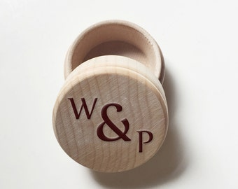 Rustic Wood Proposal Box - Personalized Wood Engraved Wedding Ring Box
