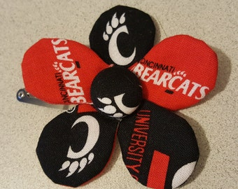 UC Bearcats Hair Flower (clip)