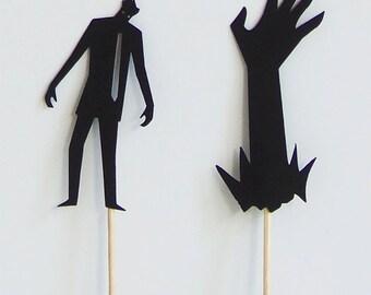 Halloween Cupcake Picks - Halloween Cupcake Toppers - Zombie Cupcake Toppers - Zombie Cupcake Picks