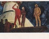"B. Okorokov ""Goodbye, Earth!"" Postcard -- 1973"