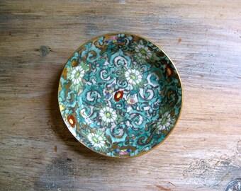 Vintage Japanese Porcelain Ware Trinket Dish, Cloisonne Bowl
