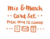 Mix & Match Card Set -12 Cards