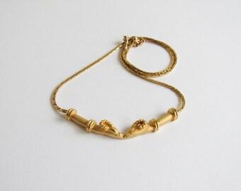 Ram Head Necklace / Monet Designer Necklace / Aries Necklace / Ram Necklace / Double Ram Head