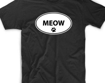 Cute Funny T Shirt Tee Meow Gift Funny Geek Nerd Cat Kitten Lover Animal Gift Funny Cute Geek Nerd Euro Oval Kitty Rescue Veterinarian