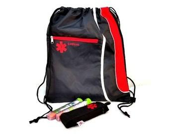 Drawstring Backpack Cinch Bag / EpiPen Case / Medical Alert