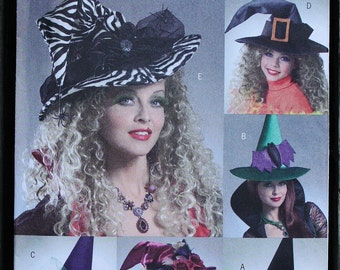 Butterick 4888 Witch Hat Costume Halloween Masquerade  Pattern Sewing Pattern Size One Size Adult OOP RARE