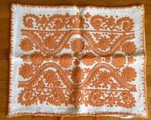 Traditional embroidered pillow case handmade Transylvania Kalotaszeg FOLK ART