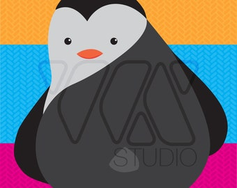 Pin the Tail on the Penguin -  Animal Theme Party Game - Children or Adults - Illustration - Penguin - South Pole - Burrrr - Winter -