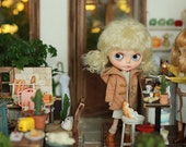 Miss yo 2016 Summer & Autumn - Short Jacket for Blythe doll - dress / outfit - Light Brown