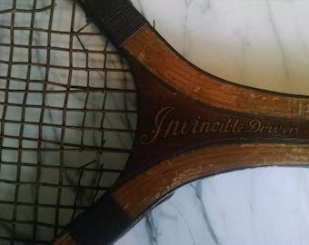 Vintage Wilson Wood Tennis Racket
