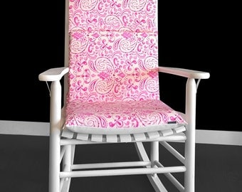 Pink Floral Rocking Chair Pads Cover