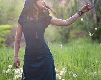 Kaleidoscope Dreamcatcher Dress ~ Casual Version ~ Elven Forest, Gypsy dress, Festival clothing, Faery, Nymph, Pixie, Bohemian, Romantic