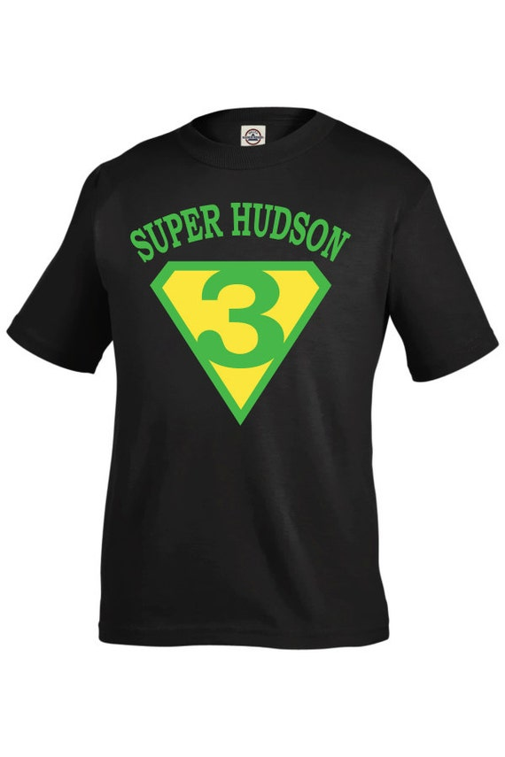 Superhero birthday shirt for boys personalized boys Boys superhero t shirts