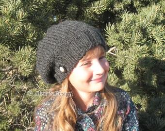 Knitting Pattern 158 - Knitting Hat Pattern Ana Slouchy Hat Slouchy Beanie - Child Teen Adult Ladies Unisex Hat - Women Men Winter Hat