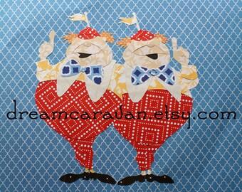 TWEEDLEDEE and TWEEDLEDUM Alice in Wonderland Custom Paper Art