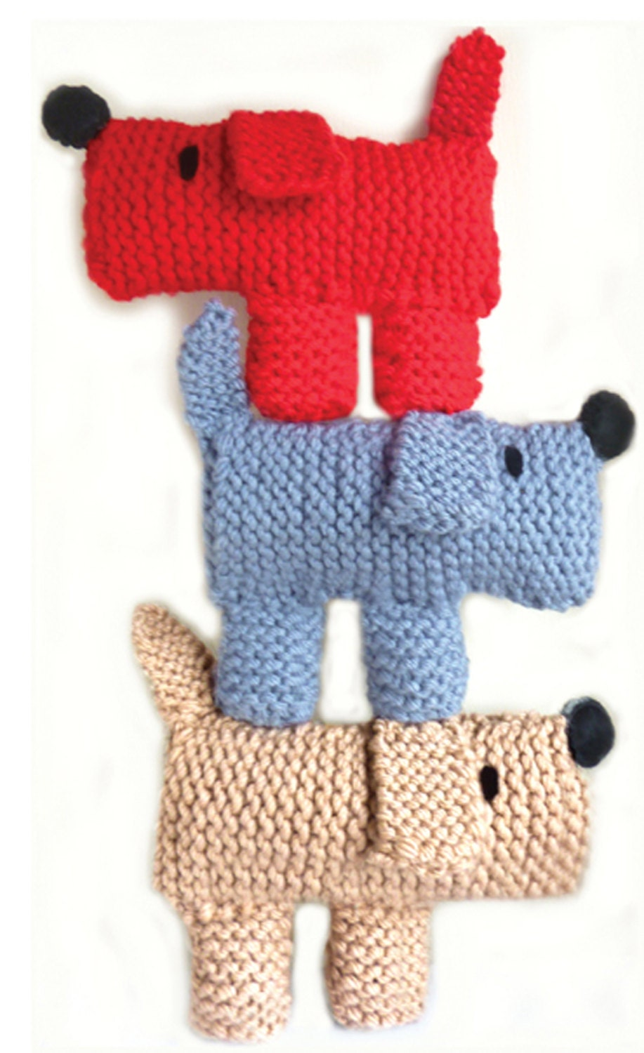 Beginner Knitting Kits Canada : Learn to knit kit scruff the dog from gifthorsekits on