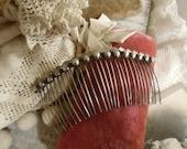 Vintage / Antique Wedding Silver Comb Headpiece / Hair Comb / Southwestern Jewelry / Mexican Hair Comb / Silver Mantilla