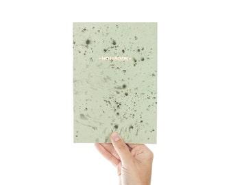 SALE -50% Nigrum Unda #2 gold notebook - pastel green and black cover - golden foil GLD5002