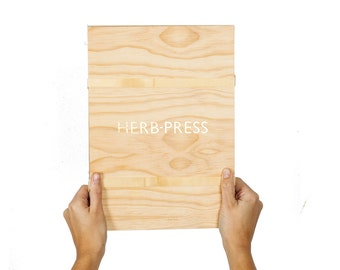 HERB PRESS - large - wood leaves flowers and plants press for herbarium - HERB0L71