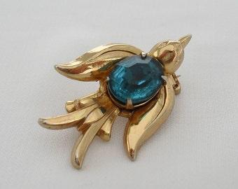 Vintage Coro Pin, Pegasus Hallmark, 1940s Swallow Pin Jewelry