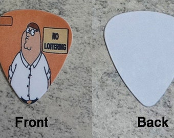 1 Family Guy Peter Single Sided Picture Guitar Pick